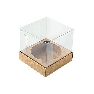 Caixa Mini Bolo G (8cm x 8cm x 8cm) Kraft 10 unidades Assk Rizzo Embalagens