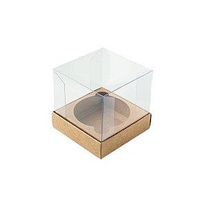 Caixa Mini Bolo P (5cm x 5cm x 5cm) Kraft 10 unidades Assk Rizzo Embalagens