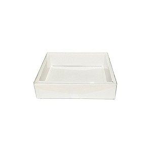 Caixa com Tampa Transparente Nº 5 (9cm x 12cm x 4cm) Branca 10 unidades Assk Rizzo Embalagens
