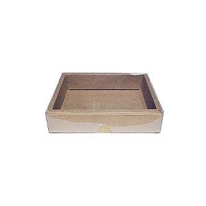 Caixa com Tampa Transparente Nº 5 (9cm x 12cm x 4cm) Kraft 10 unidades Assk Rizzo Embalagens