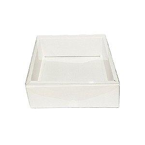 Caixa com Tampa Transparente Nº 6 (13cm x 13cm x 4cm) Branca 10 unidades Assk Rizzo Embalagens