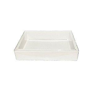 Caixa com Tampa Transparente PVC Nº 7 (15cm x 21cm x 3,5cm) Branca 10 unidades Assk Rizzo Embalagens