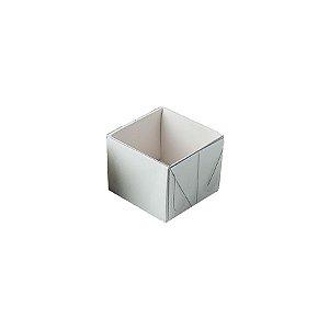 Caixa 1 Doce com Tampa Transparente Nº 10 (4,5cm x 4,5cm x 3,5cm) Branca 10 unidades Assk Rizzo Embalagens