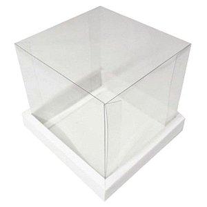 Caixa para Bolo (20cm x 20cm) Branca Assk Rizzo Embalagens
