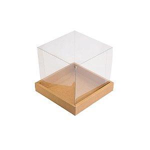 Caixa para Panetone 100g (10cm x 10cm x 10cm) Kraft 10 unidades Assk Rizzo Embalagens