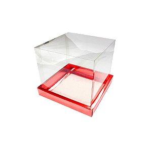 Caixa para Panetone 100g (10cm x 10cm x 10cm) Vermelha 10 unidades Assk Rizzo Embalagens