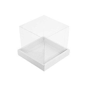 Caixa para Panetone 250g (12cm x 12cm x 12cm) Branca 05 unidades Assk Rizzo Embalagens