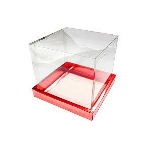 Caixa para Panetone 250g (12cm x 12cm x 12cm) Vermelha 05 unidades Assk Rizzo Embalagens