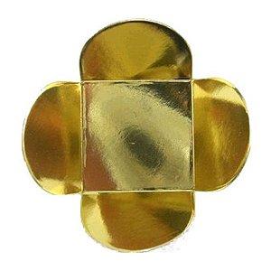 Forminha para Doces 4 Pétalas (3,5cm x 3,5cm x 2,5cm) Dourada 50 unidades Assk Rizzo Embalagens