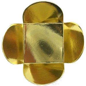 Forminha para Doces 4 Pétalas (4cm x 4cm x 3cm) Dourada 50 unidades Assk Rizzo Embalagens