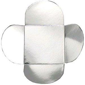 Forminha para Doces 4 Pétalas (4cm x 4cm x 3cm) Prata 50 unidades Assk Rizzo Embalagens