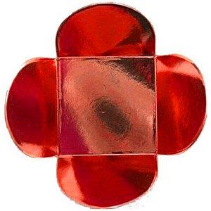 Forminha para Doces 4 Pétalas (4cm x 4cm x 3cm) Vermelha 50 unidades Assk Rizzo Embalagens