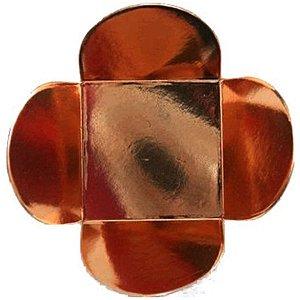 Forminha para Doces 4 Pétalas (4cm x 4cm x 3cm) Bronze 50 unidades Assk Rizzo Embalagens