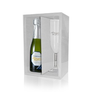Caixa Mini Champanhe e Taça (20,5cm x 13cm x 6cm) Branca 5 unidades - Assk - Rizzo Embalagens