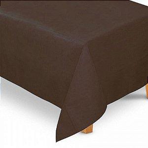Toalha de Mesa Retangular em TNT (1,40m x 2,20m) Marrom - Best Fest - Rizzo Embalagens