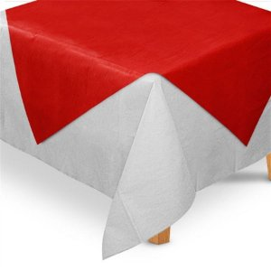 Toalha de Mesa Quadrada Cobre Mancha em TNT (70cm x 70xm) Vermelha 5 unidades - Best Fest - Rizzo Embalagens