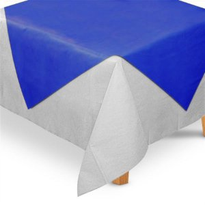 Toalha de Mesa Quadrada Cobre Mancha em TNT (70cm x 70xm) Azul Royal 5 unidades - Best Fest - Rizzo Embalagens