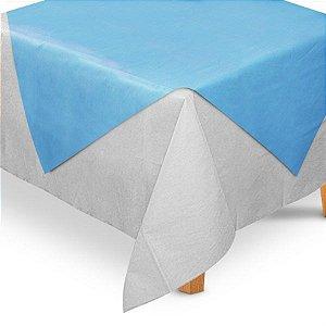 Toalha de Mesa Quadrada Cobre Mancha em TNT (70cm x 70xm) Azul Claro 5 unidades - Best Fest - Rizzo Embalagens