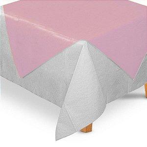 Toalha de Mesa Quadrada Cobre Mancha em TNT (70cm x 70xm) Rosa Claro 5 unidades - Best Fest - Rizzo Embalagens