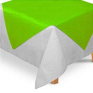 Toalha de Mesa Quadrada Cobre Mancha em TNT (70cm x 70xm) Verde Limão 5 unidades - Best Fest - Rizzo Embalagens
