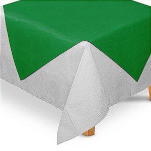 Toalha de Mesa Quadrada Cobre Mancha em TNT (70cm x 70xm) Verde Bandeira 5 unidades - Best Fest - Rizzo Embalagens