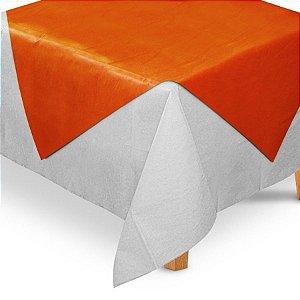 Toalha de Mesa Quadrada Cobre Mancha em TNT (70cm x 70xm) Laranja 5 unidades - Best Fest - Rizzo Embalagens
