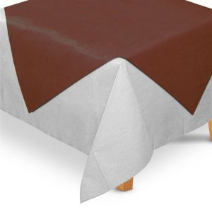 Toalha de Mesa Quadrada Cobre Mancha em TNT (70cm x 70xm) Marrom 5 unidades - Best Fest - Rizzo Embalagens