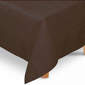 Toalha de Mesa Quadrada em TNT (80cm x 80cm) Marrom 5 unidades - Best Fest - Rizzoembalagens