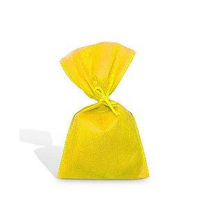 Saquinho para Lembrancinha em TNT (13cm x 25cm) Amarela 10 unidades - Best Fest - Rizzoembalagens