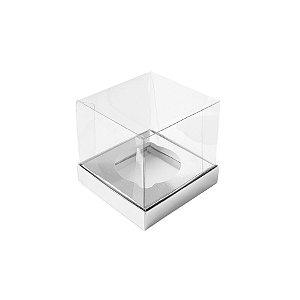 Caixa Mini Bolo P (5cm x 5cm x 5cm) Prata 10 unidades Assk Rizzo Embalagens