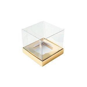 Caixa Mini Bolo P (5cm x 5cm x 5cm) Dourada 10 unidades Assk Rizzo Embalagens