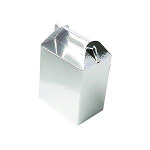 Caixa Sacolinha S1 (9,5cm x 6,5cm x 4,5cm) Prata 10 unidades Assk Rizzo Embalagens