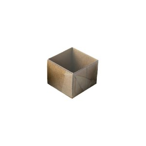 Caixa 1 Doce com Tampa Transparente Nº 10 (4,5cm x 4,5cm x 3,5cm) Kraft 10 unidades Assk Rizzo Embalagens