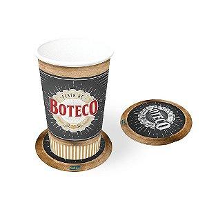 Bolacha Porta Copo Festa Boteco - 8 unidades - Festcolor - Rizzo Festas