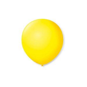 Balão de Festa Latex 5'' 13cm - Amarelo Citrino - 50 unidades - São Roque - Rizzo Festas
