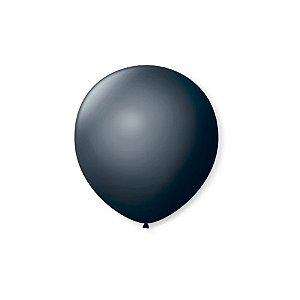 Balão de Festa Latex 5'' 13cm - Preto Ébano - 50 unidades - São Roque - Rizzo Festas