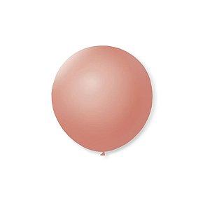 Balão de Festa Latex 5'' 13cm - Rosê - 50 unidades - São Roque - Rizzo Festas