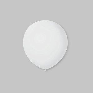 Balão de Festa Latex 5'' 13cm - Transparente - 50 unidades - São Roque - Rizzo Festas
