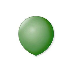 Balão de Festa Latex 5'' 13cm - Verde Bandeira - 50 unidades - São Roque - Rizzo Festas