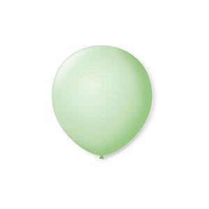 Balão de Festa Latex 5'' 13cm - Verde Hortelâ - 50 unidades - São Roque - Rizzo Festas