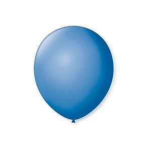 Balão de Festa Latex 7'' 18cm - Azul Turquesa - 50 unidades - São Roque - Rizzo Festas