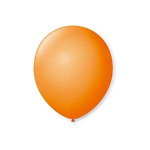 Balão de Festa Latex 7'' 18cm - Laranja Mandarim - 50 unidades - São Roque - Rizzo Festas