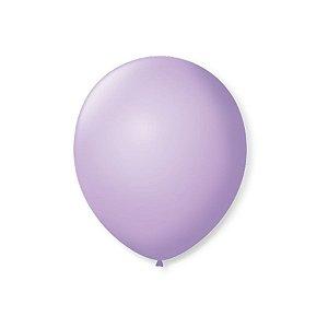 Balão de Festa Latex 7'' 18cm - Lilás Baby - 50 unidades - São Roque - Rizzo Festas
