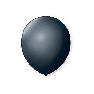 Balão de Festa Latex 7'' 18cm - Preto Ébano - 50 unidades - São Roque - Rizzo Festas