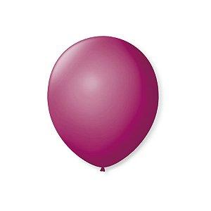 Balão de Festa Latex 7'' 18cm - Púrpura - 50 unidades - São Roque - Rizzo Festas
