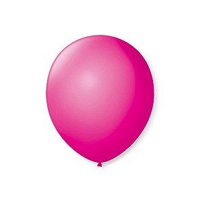 Balão de Festa Latex 7'' 18cm - Rosa Shock - 50 unidades - São Roque - Rizzo Festas