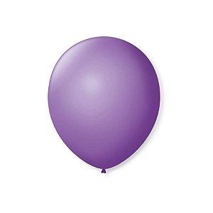 Balão de Festa Latex 7'' 18cm - Roxo Ametista - 50 unidades - São Roque - Rizzo Festas