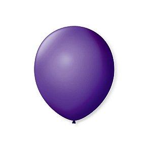Balão de Festa Latex 7'' 18cm - Roxo Uva - 50 unidades - São Roque - Rizzo Festas