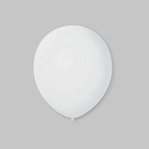 Balão de Festa Latex 7'' 18cm - Transparente - 50 unidades - São Roque - Rizzo Festas