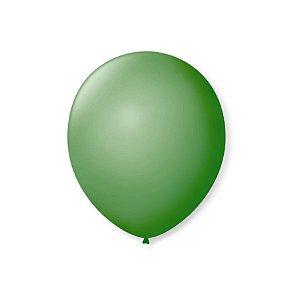 Balão de Festa Latex 7'' 18cm - Verde Bandeira - 50 unidades - São Roque - Rizzo Festas